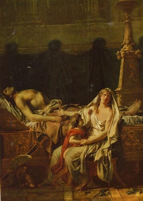 Жак Луи Давид Андромаха, оплакивающая смерть Гектора. 1783 Холст, масло. 0,58X0,43