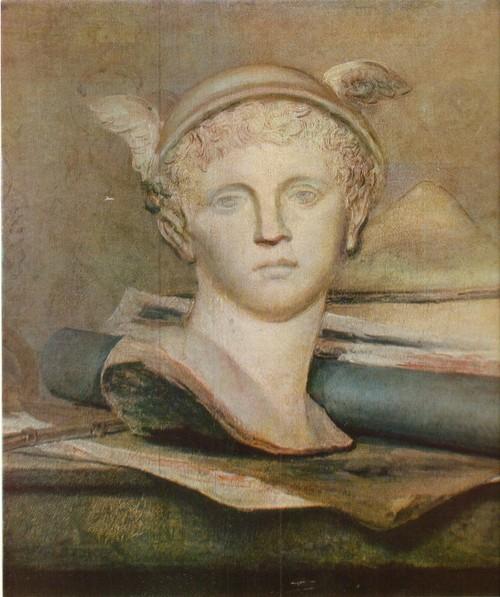 Жан-Батист Симеон Шарден Натюрморт с атрибутами искусства. Фрагмент