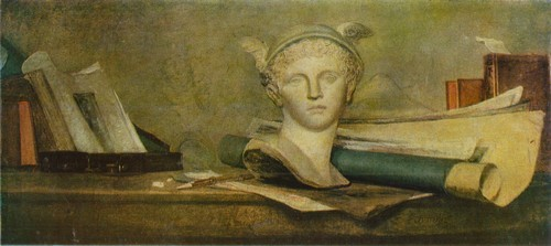 Жан-Батист Симеон Шарден Натюрморт с атрибутами искусства