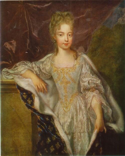 Жан-Фрасуа де Труа Портрет Марии Аделаиды. Холст, масло. 0.98 х 0,79