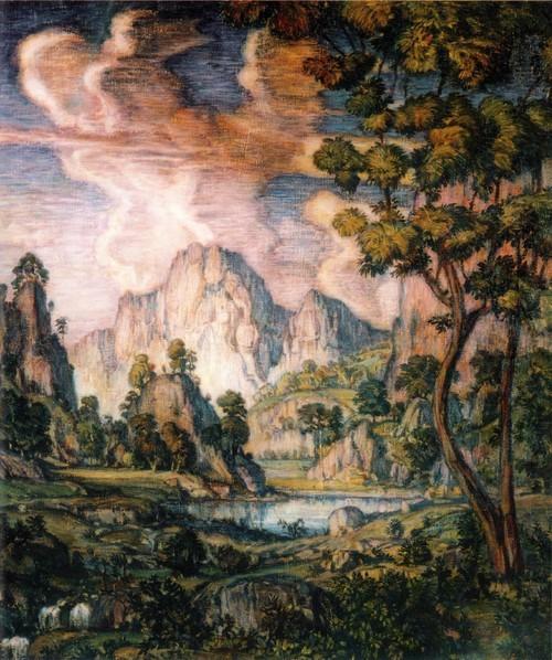 Классический пейзаж. 1910