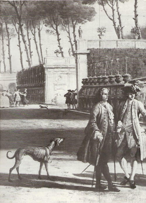 Клод Жозеф Верне Вид парка виллы Памфилии. Фрагмент