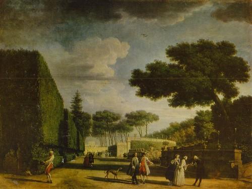 Клод Жозеф Верне Вид парка виллы Памфилии. 1749 Холст, масло. 0,76X1,01