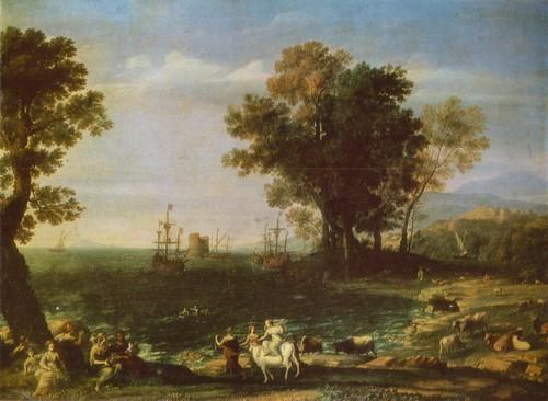 Клод Лоррен Похищение Европы. 1655. Холст, масло. 1,00 X 1,37