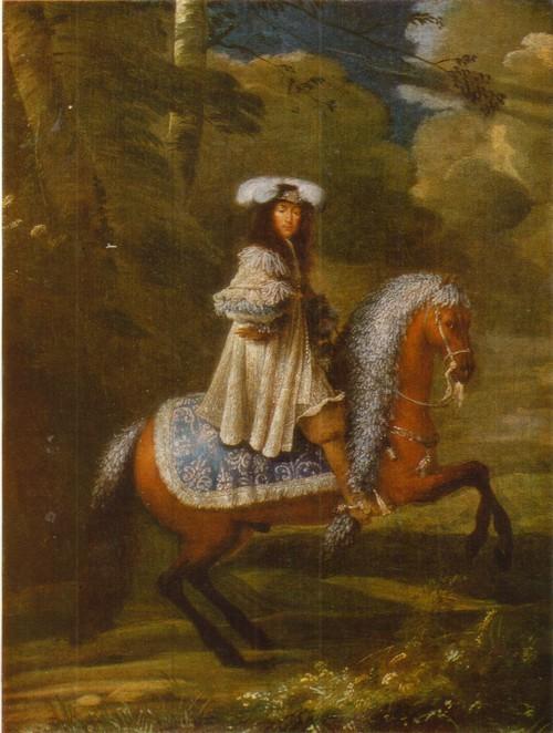 Конный портрет Французский мастер XVII века. Холст, масло. 0,46X0,35