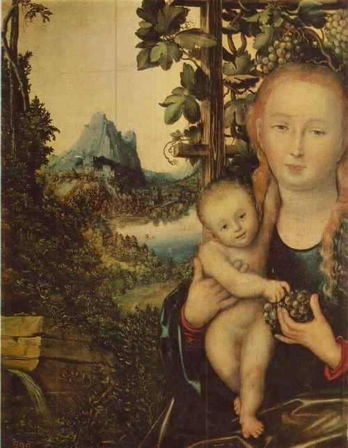 Лукас Кранах Старший Мадонна с младенцем  1472—1553. Дерево, масло. 0,58 X 0,46