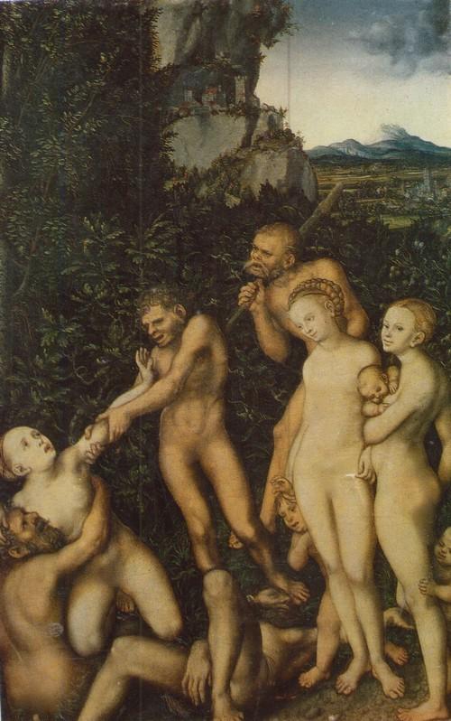 Лукас Кранах Старший Плоды ревности серебряный век 1472—1553. Дерево, масло. 0,56 X 0,38