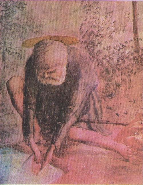 Мазаччо. Чудо со статиром. Фрагмент. Фреска капеллы Бранкаччи церкви Мария дель Кармине. Флоренция. 1427.