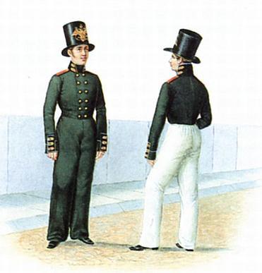 Матросы гвардейского экипажа в строевой форме 1810