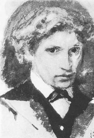 М. Врубель (1856—1910). Автопортрет. Акварель. 1882.