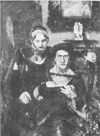 М. Врубель. Гамлет и Офелия. Масло. 1884.