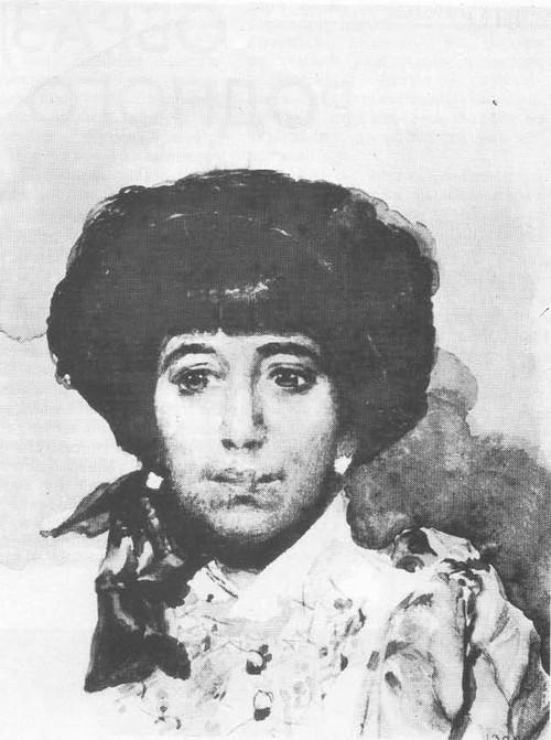 М. Врубель. Портрет 3. А. Штукенберг. Акварель. 1883.