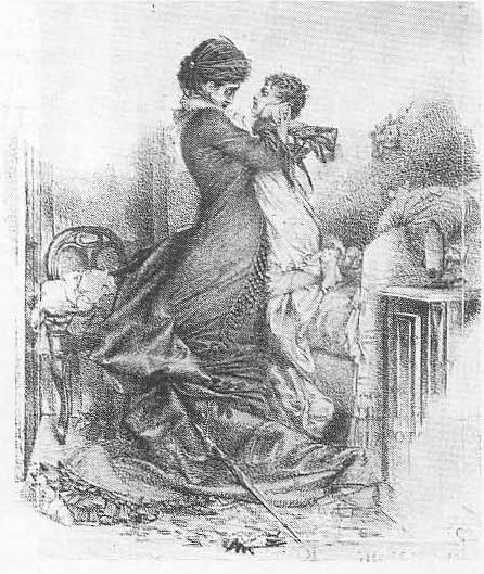 М. Врубель. Свидание Анны Карениной с сыном. Тушь, сепия, перо. 1878.