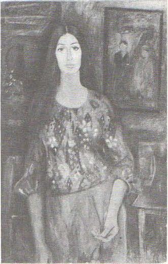 М. Яхьяева. Автопортрет. Из серии «Женщины Таджикистана». Масло. 1979.