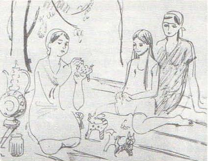 М. Яхьяева. Девушка из Куляба. Этюд к картине «Материнство». Масло. 1979.