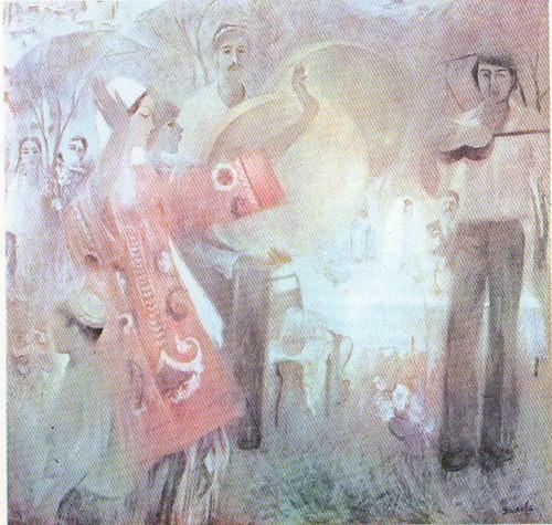 М. Яхьяева. Свадьба. Из серии «Женщины Таджикистана». Масло. 1979.
