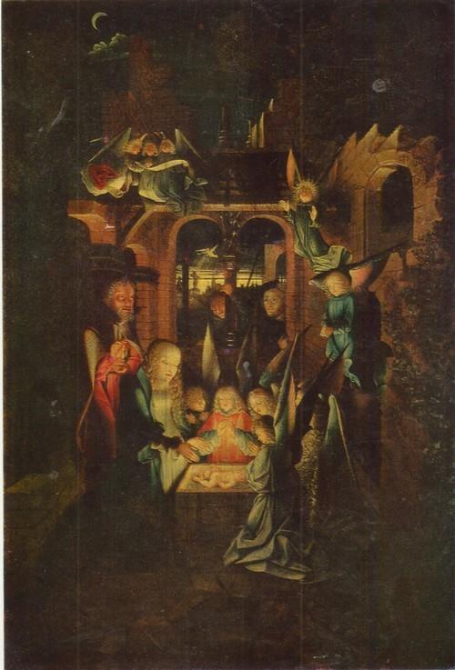 Неизвестный Нидерландский мастер картина Рождество Первая половина XVI века. Дерево, масло. 0,85 х 0,57