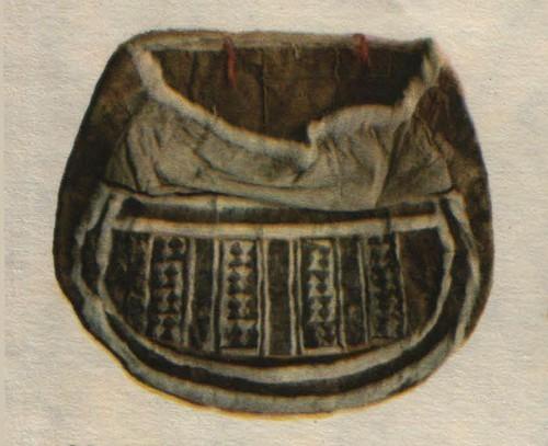 Ненецкая сумка. Мех. сукно, мозаика. Начало XX века.