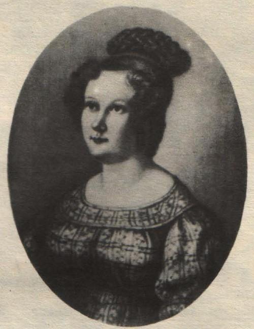Н. Бестужев. К И. Трубецкая. Миниатюра на слоновой кости. 1828.