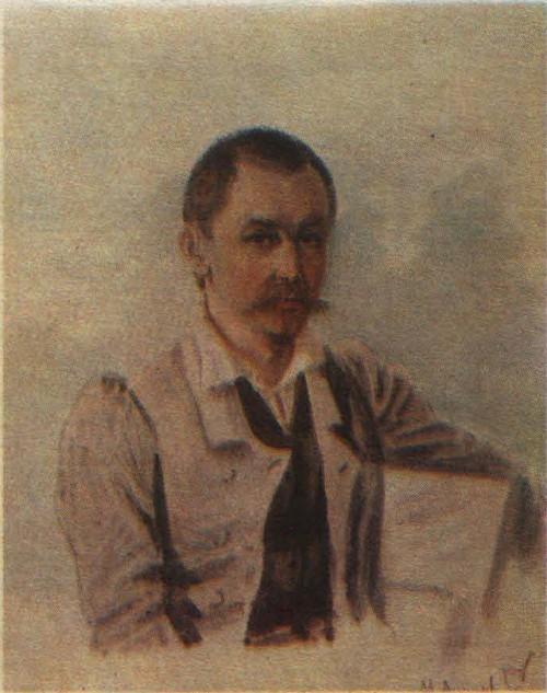 Н. Бестужев. М. С. Лунин. Акварель. 1836.