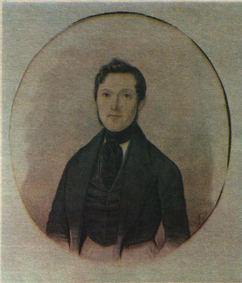 Н. Бестужев. Портрет П. П. Сукачева. Акварель. 1842.