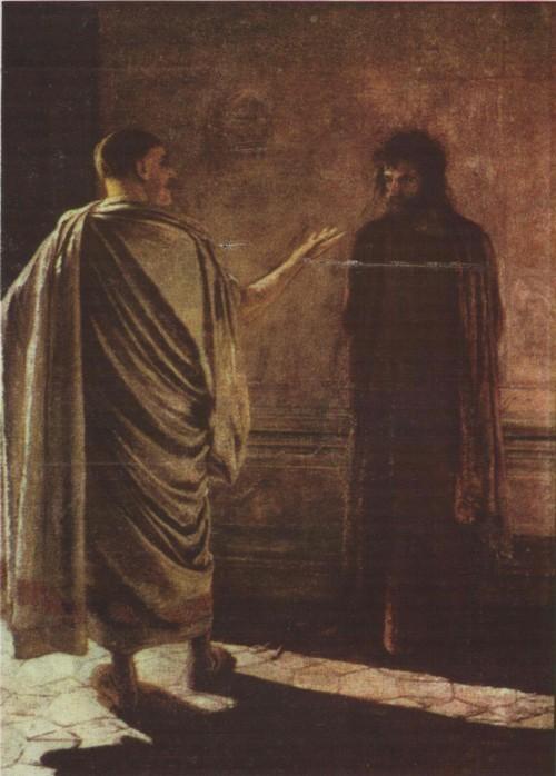 Н. Ге. «Что есть истина» Масло. 1890.