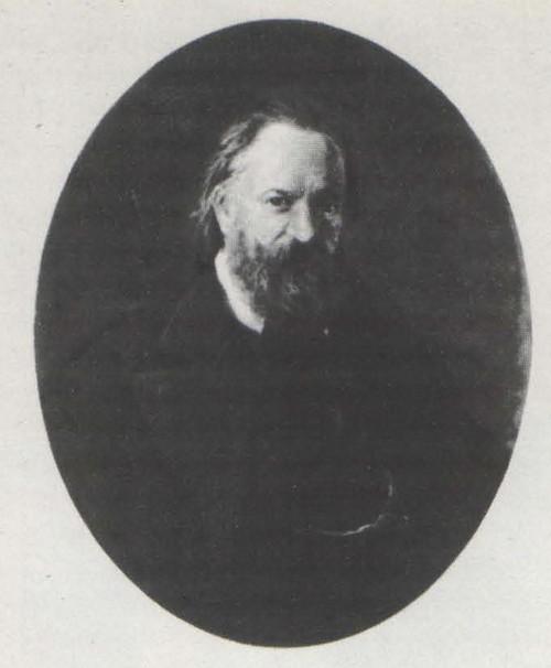 Н. Ге. Портрет писателя А. И. Герцена. Масло. 1867