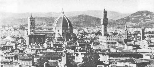 Панорама Флоренции с куполом собора Санта Мария дель Фьоре. 1420—1434 (без фонаря).