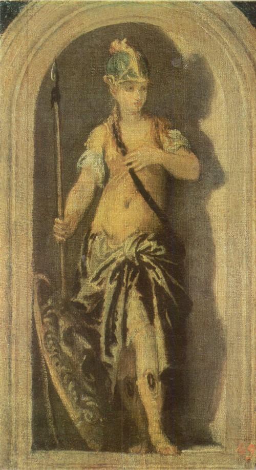 Паоло Веронезе Миневра 1528—1588 Холст, масло. 0,29 х 0,16