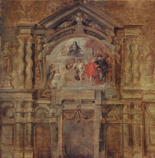 Петер Пауль Рубенс Апофеоз герцогини Изабеллы 1577—1640. Дерево, масло. 0,68 X 0,70
