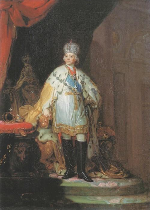 Портрет Павла I в белом далматике. 1799-1800