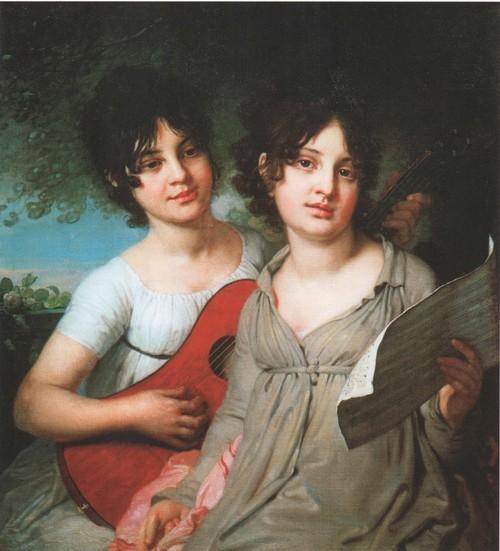 Портрет сестер Анны Гавриловны и Варвары Гавриловны Гагариных. 1802