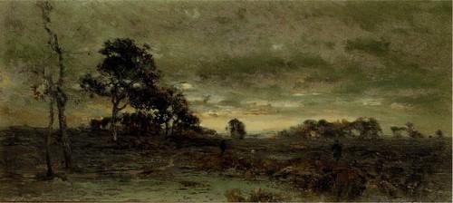После захода солнца . Барбизон. 1889