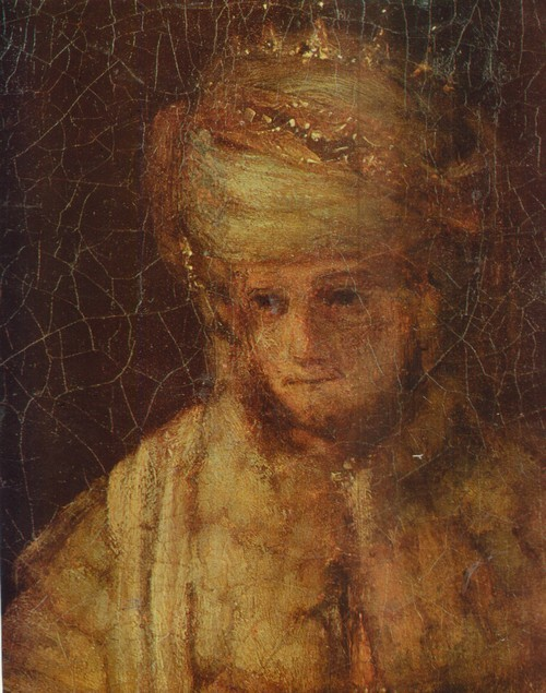 Рембрандт Харменс Ван Рейн Артаксеркс Аман и Эсфирь. 1660. Фрагмент, Артаксеркс