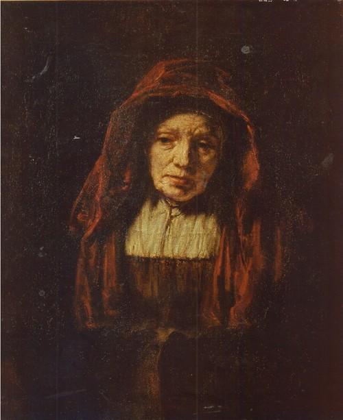 Рембрандт Харменс Ван Рейн. 1606—1669. Портрет старушки. 1654. Холст, масло. 0,74 X,0,63