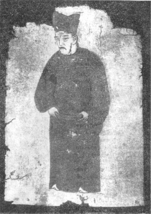 Портрет чиновника Живопись на бумаге из г. Хара-хото. XI—XII вв.