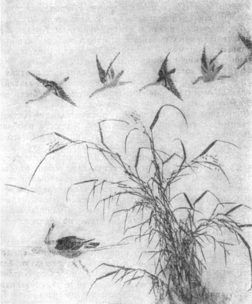 «Сотня гусей». Деталь картины на бумаге художника Ма Фэнь Конец XII в.
