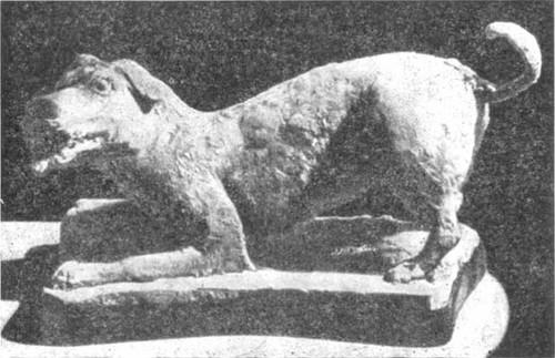 Собака. Статуэтка из темносерой глины. Период Сев. Вэй. IV в.