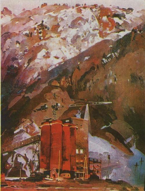 С. Рогаль. Пробуждение Енисея. Масло. 1972—1973.