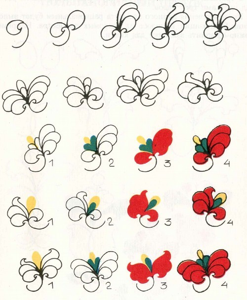 Трехлопастный цветок