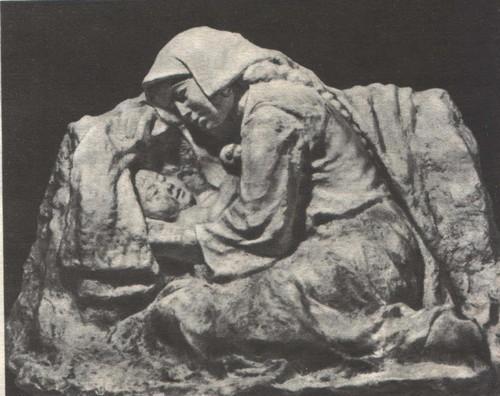 Т. Садыков. Молодая мать. Пластмасса. 1958.