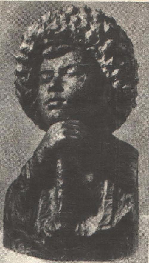Т. Садыков. Пастушок. Дерево. 1957.