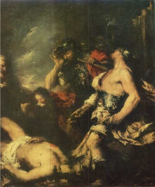 Франческо Гварди Александр Македонский у тела убитого персидского царя Дария 1712—1793. Холст, масло. 0,95 х 1,26