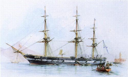 Фрегат Светлана. С 1874-1877 годы фрегатом командывал его императорское высочество великий князь Алексей Александрович