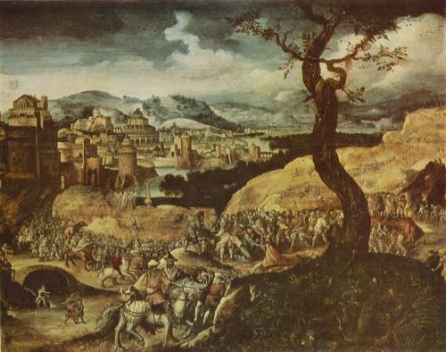 Херри Мет де Блесс (Херри Патинир) Шествие на Голгофу Около 1480 — около 1550. Дерево, масло. 0,38 X 0,50