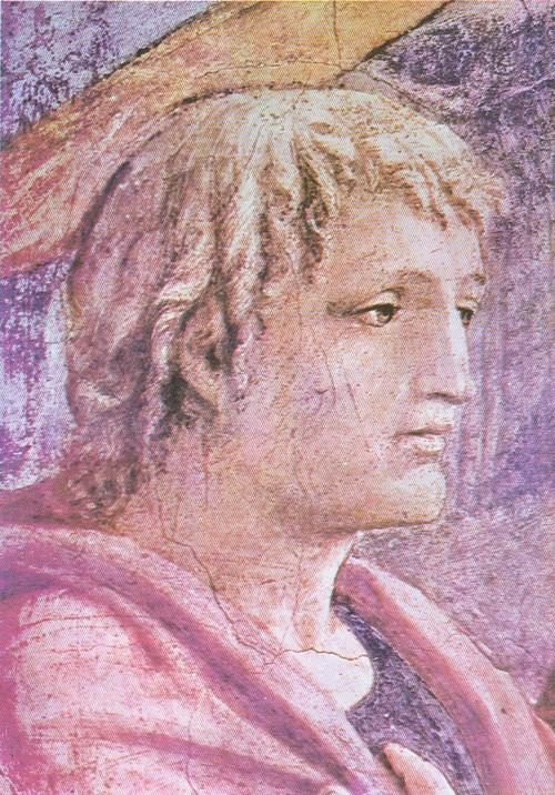 Чудо со статиром. Фрагмент. Фреска капеллы Бранкаччи церкви Мария дель Кармине. Флоренция. 1427.