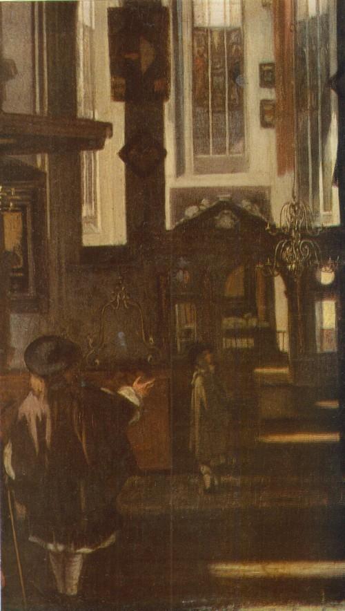 Эммануэль де Витте Вид церкви. Фрагмент