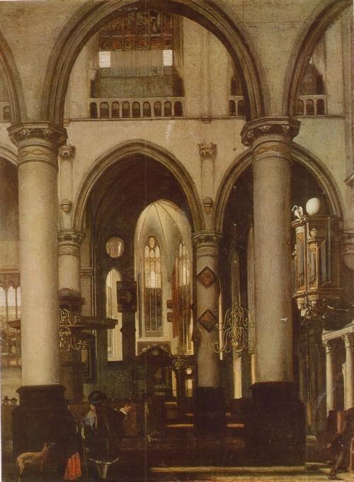 Эммануэль де Витте Вид церкви. 1617—1692. Дерево, масло. 0,68 X 0,51