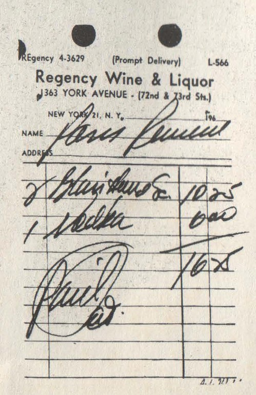 Э. Уорхол. Расписка. 1967. Шелкотрафаретная печать на картоне.