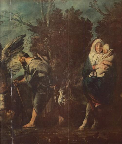 Якоб Иорданс. Бегство в Египет. 1640. Холст, масло. 1,32 X 2,00